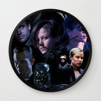 terminator Wall Clocks featuring Terminator Saga by Saint Genesis