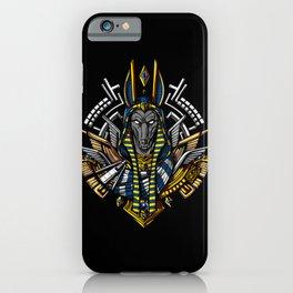 Anubis Egyptian God King Pharaoh iPhone Case