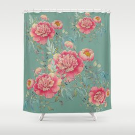 tender gipsy paeonia Shower Curtain