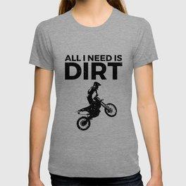 Motocross Dirt Bike Vintage Graphic Design T-shirt