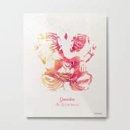Lord Ganesha Summer Metal Print