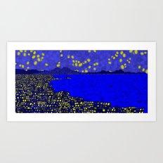 Starry Naples Art Print