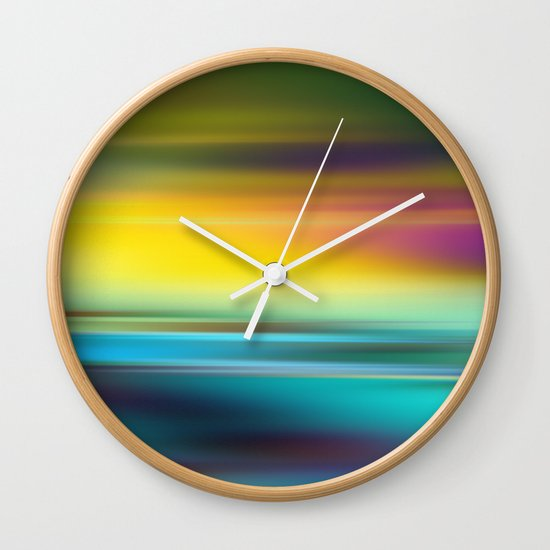 The Colors of the Sunset Wall Clock