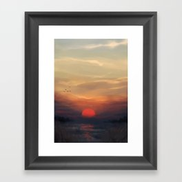 Red Sun Framed Art Print