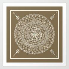 Ecru Mandala Art Print