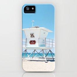 Lifeguard tower Carlsbad 35 iPhone Case