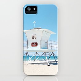 Lifeguard tower Carlsbad 35 iPhone Case