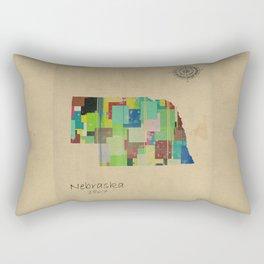 nebraska state map Rectangular Pillow