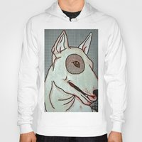 bull terrier Hoodies featuring Bull Terrier by Just Bailey Designs .com