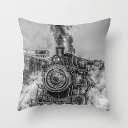 Vintage Steam Train Photo Throw Pillow