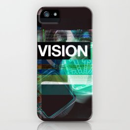 Vision (mixed media) iPhone Case