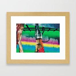 Hanging Meat Framed Art Print