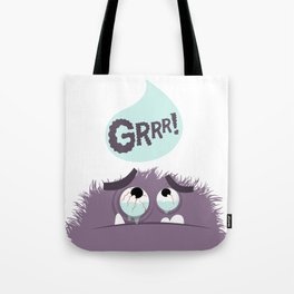 scared monster Tote Bag