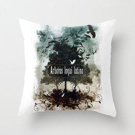 arbores loqui latine Throw Pillow