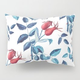 Watercolor Rose Hips Pillow Sham