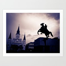 The rising south... Art Print
