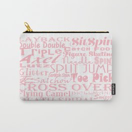 Figure Skating Subway Design in Millennial Pink Carry-All Pouch