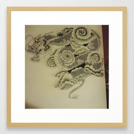 Custom tattoo Artwork Framed Art Print