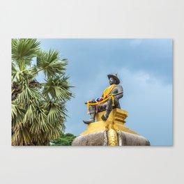 King Sethathirath Statue, Vientiane, Laos Canvas Print