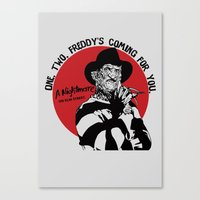 freddy krueger Canvas Prints featuring Freddy K quote by Buby87