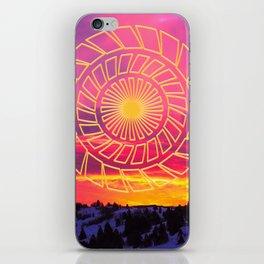 Pink Sunrise Golden Mandala iPhone Skin
