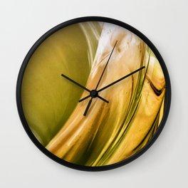 Golden Flow Wall Clock