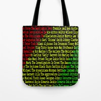 reggae Tote Bags featuring Reggae Artist - Roll Call by The Peanut Line