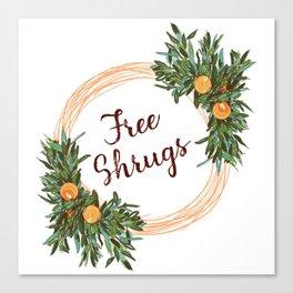 Free Shrugs spring summer wreath Canvas Print