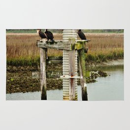 Four Cormorants Rug