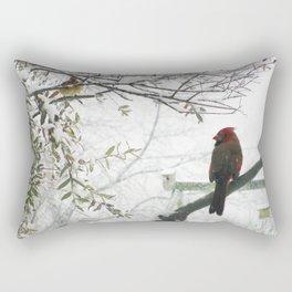 Winter Snow Cardinals Rectangular Pillow