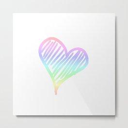 Rainbow heart | Valentine´s Day Gift idea Metal Print