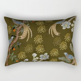 Golden Chinese Forest - Chinese Art Rectangular Pillow