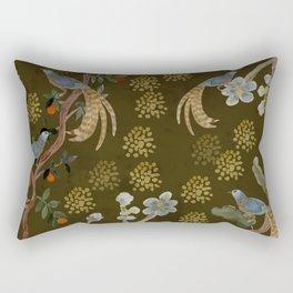 Golden Chinese Forest - Chinese Art Rectangular Pillow