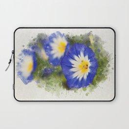 Watercolor Morning Glories Laptop Sleeve