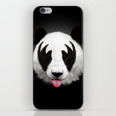 Kiss of a panda iPhone & iPod Skin