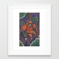 samus Framed Art Prints featuring Samus by Matt Sinor