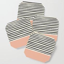 Peach x Stripes Coaster