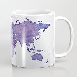 Purple World Map 02 Coffee Mug