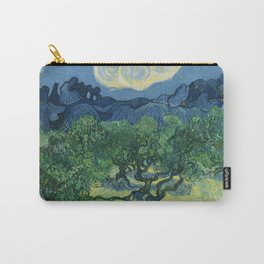 Olive Trees with the Alpilles in the Background by Vincent van Gogh (June 1889) Carry-All Pouch
