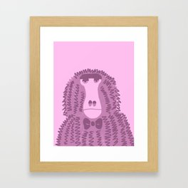 Unhappy Baboon Framed Art Print