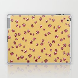 Peppermint Candy in Yellow Laptop & iPad Skin