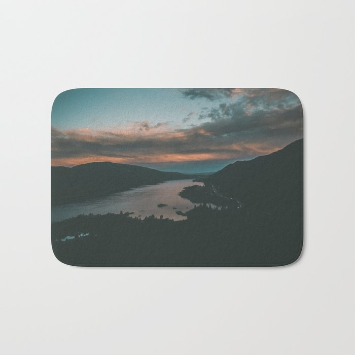 Columbia River Gorge Sunset Bath Mat