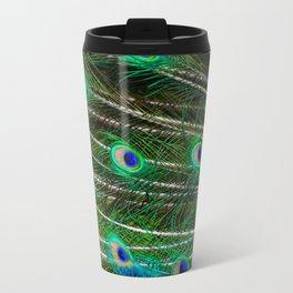 Peacock Feathered Travel Mug