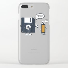 USB Floppy Disk I Am Your Father TShirt |Funny Nerd Geek Tee Clear iPhone Case
