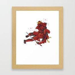 Samurai Jiu-Jitsu Framed Art Print
