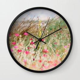 Aquarelle dreams of nature Wall Clock