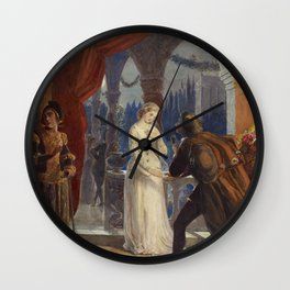 Vintage Romeo and Juliet Painting (1861) Wall Clock