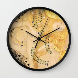 Water Serpents - Gustav Klimt Wall Clock