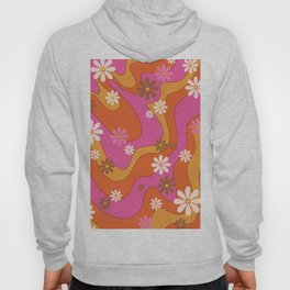 Groovy 60's and 70's Flower Power Pattern Hoody