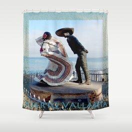 Puerto Vallarta, Mexico Sculpture by the Sea Shower Curtain